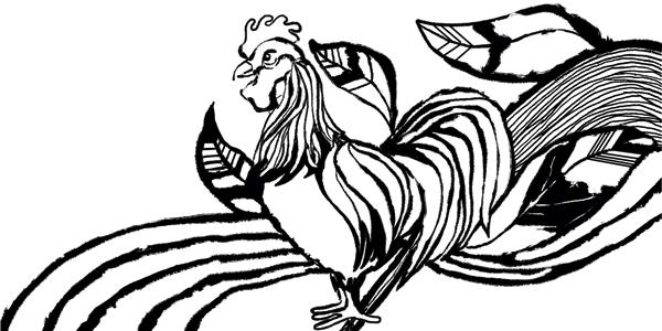 Aji Noodle Chicken Illustration