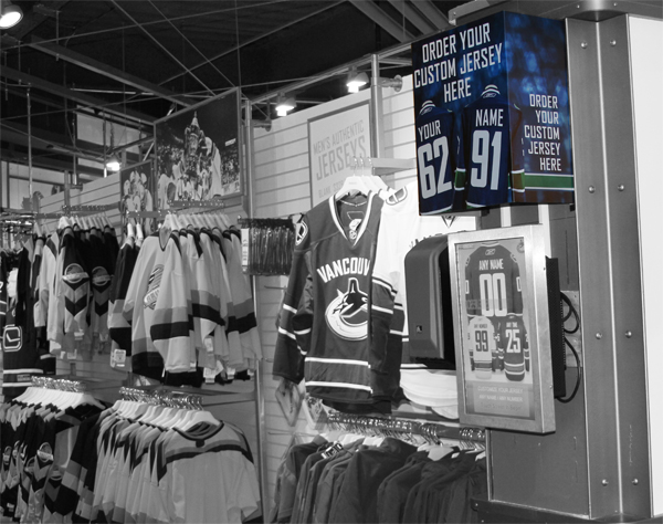 Vancouver Canucks Team Store Game Custom Jersey