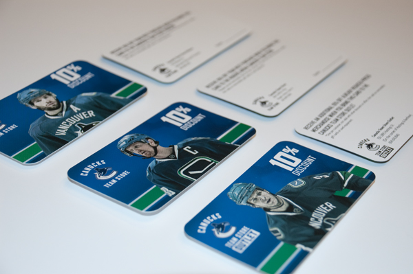Vancouver Canucks Team Store Discount-Cards