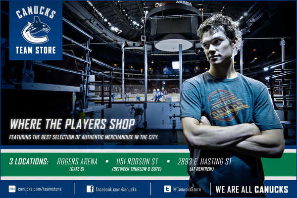 Vancouver Canucks Team Store Game Day Program Ad