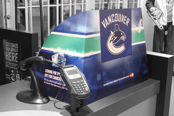 Vancouver Canucks Team Store Till Wrap