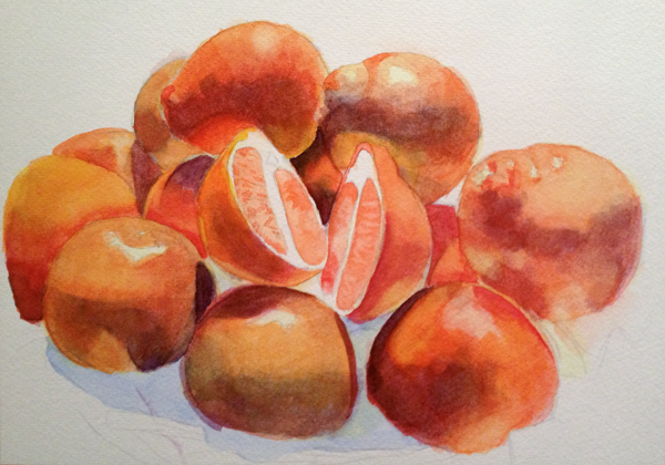 Orange Watercolour Process 3