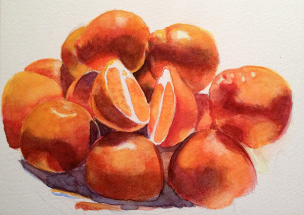 Orange Watercolour Process 4