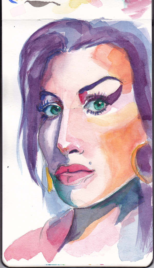 AmyWinehouse watercolours