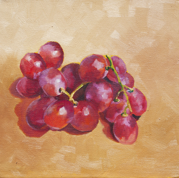 Grapes Still Life 8x8 North Van Anonymous Art Show