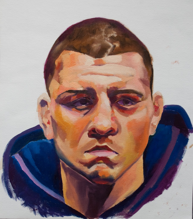 Nick Diaz UFC Oil Painting